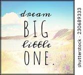 inspirational typographic quote ... | Shutterstock . vector #230689333