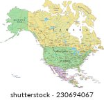 north america   highly detailed ... | Shutterstock .eps vector #230694067