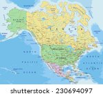 north america   highly detailed ... | Shutterstock .eps vector #230694097