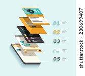 design interface. flat design.