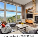 furnished living room with view ... | Shutterstock . vector #230712547