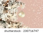 decoration on christmas tree  ... | Shutterstock . vector #230716747