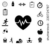 health and fitness icons | Shutterstock .eps vector #230724787