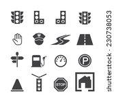 traffic icon set   Shutterstock .eps vector #230738053