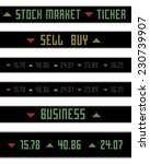 vector stock market ticker... | Shutterstock .eps vector #230739907