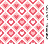 seamless pattern of hearts and... | Shutterstock .eps vector #230764093