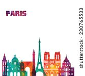 paris. vector illustration | Shutterstock .eps vector #230765533