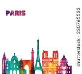 paris. vector illustration   Shutterstock .eps vector #230765533