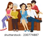 illustration featuring a family ... | Shutterstock .eps vector #230774887