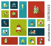 flat style xmas  new year...   Shutterstock .eps vector #230781013