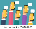 mobile instant messenger chat ... | Shutterstock .eps vector #230781823