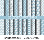 20 different blue zigzag... | Shutterstock .eps vector #230783983