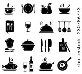 vector kitchen icons | Shutterstock .eps vector #230786773