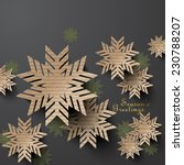 abstract cardboard snowflakes | Shutterstock .eps vector #230788207