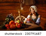 Peasant Woman Cook A Festive...