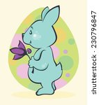 funny rabbit  easter... | Shutterstock .eps vector #230796847