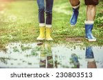 young couple in colorful... | Shutterstock . vector #230803513