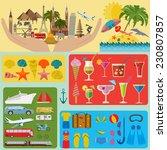 travel. vacations. beach resort ... | Shutterstock .eps vector #230807857