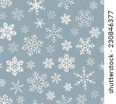 seamless  pattern of snowflakes ...