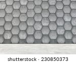 abstract  hexagonal background... | Shutterstock . vector #230850373