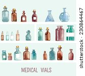 set of watercolor medical icons ... | Shutterstock .eps vector #230864467