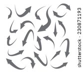 set of arrow icons | Shutterstock .eps vector #230871193