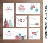 christmas and new year greeting ... | Shutterstock .eps vector #230876107