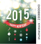 new year 2015 background. vector | Shutterstock .eps vector #230880043