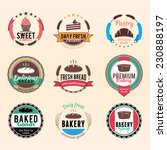 bakery logo and labels | Shutterstock .eps vector #230888197