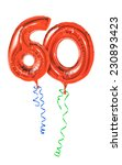 red balloons with ribbon  ... | Shutterstock . vector #230893423