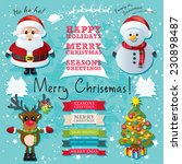 christmas text and characters... | Shutterstock .eps vector #230898487