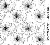 Flax Flowers Seamless Pattern...