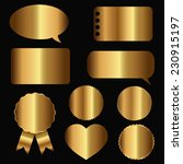 golden icons  labels and... | Shutterstock .eps vector #230915197
