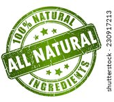 Natural Ingredients Stamp