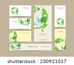 cute business elements   cards  ... | Shutterstock . vector #230921017
