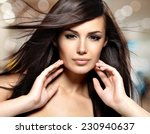 fashion model  with beauty long ... | Shutterstock . vector #230940637