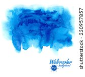blue watercolor vector... | Shutterstock .eps vector #230957857