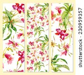 floral cards on yellow... | Shutterstock .eps vector #230959357