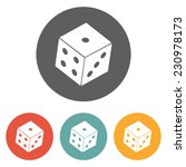 dice icon | Shutterstock .eps vector #230978173