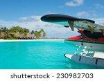 Sea Plane At Tropical Beach...