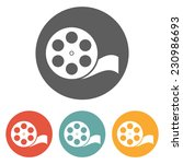 film reel icon | Shutterstock .eps vector #230986693