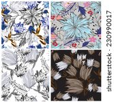 vector seamless floral  | Shutterstock .eps vector #230990017
