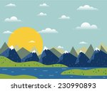 pretty vector landscape with... | Shutterstock .eps vector #230990893