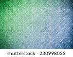 pattern on a glass  green and... | Shutterstock . vector #230998033