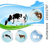 cow.farming dairy product.fresh ... | Shutterstock .eps vector #231012787