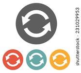 refresh icon | Shutterstock .eps vector #231029953