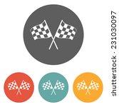 racing flag icon | Shutterstock .eps vector #231030097