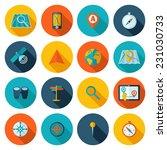 navigation icons flat set of... | Shutterstock .eps vector #231030733