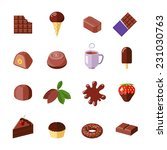 chocolate candies cakes muffin... | Shutterstock .eps vector #231030763