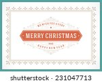 christmas retro greeting card... | Shutterstock .eps vector #231047713